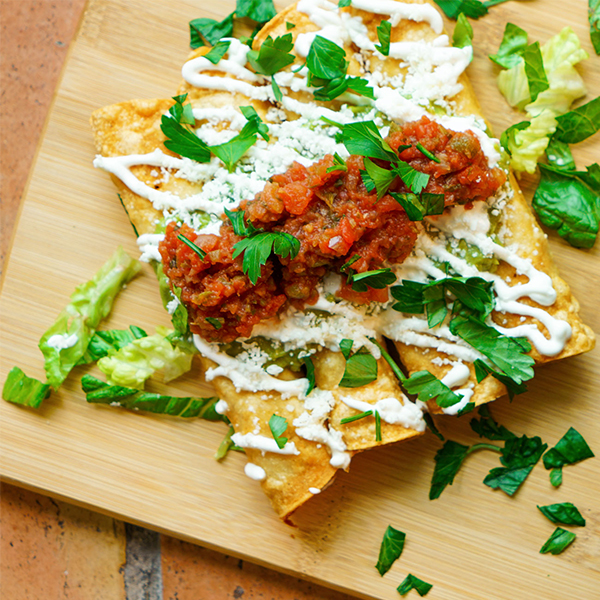 Crispy Chicken Flautas